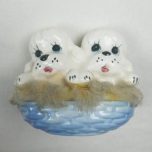 Vintage Accents - Vintage ceramic dog figurine